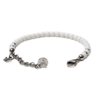 white onyx bracelet, opened