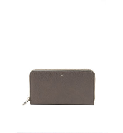 Large Grey Wallet with Zip