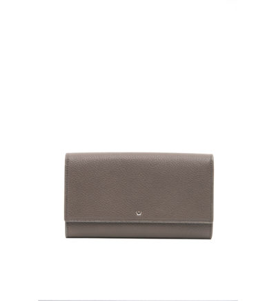 Large Grey Wallet with Flap