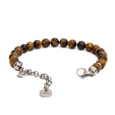 tiger's eye bracelet, opened
