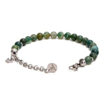 bracciale pietra diaspro verde, aperta