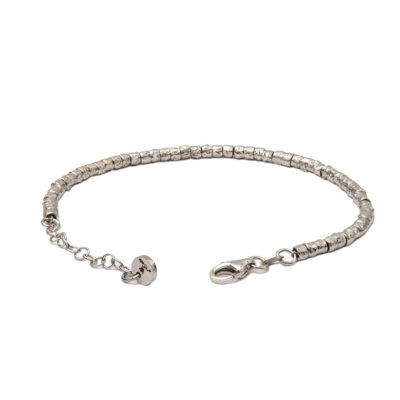 Bracelet with Handmade Silver Nuggets