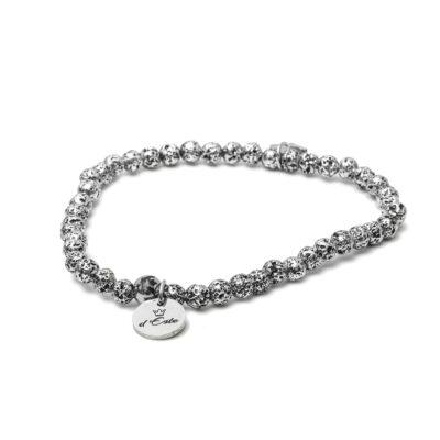 Chromed Lava Elastic Bracelet