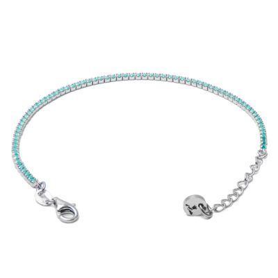 Tennis Silver 925 & Turquoise Zircons