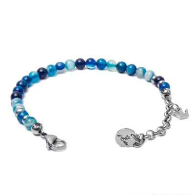 Blue Striped Aghata Bracelet