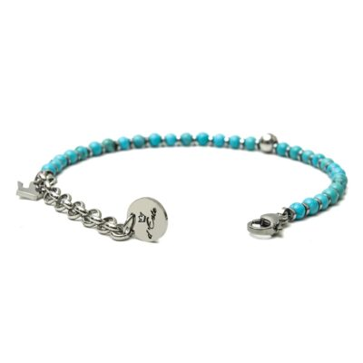 Turquoise & Steel Bracelet