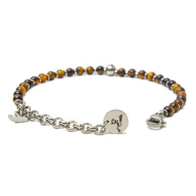 Tiger's Eye & Steel Bracelet
